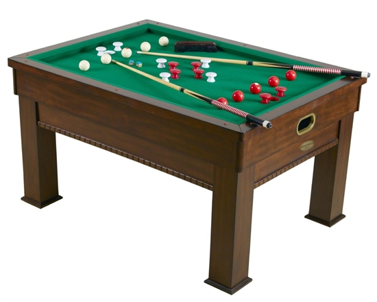 Bumper Pool Card Dining Table 3 In 1 Rectangular Game Table