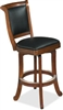 Brunswick Heritage Leather Back Bar Stool