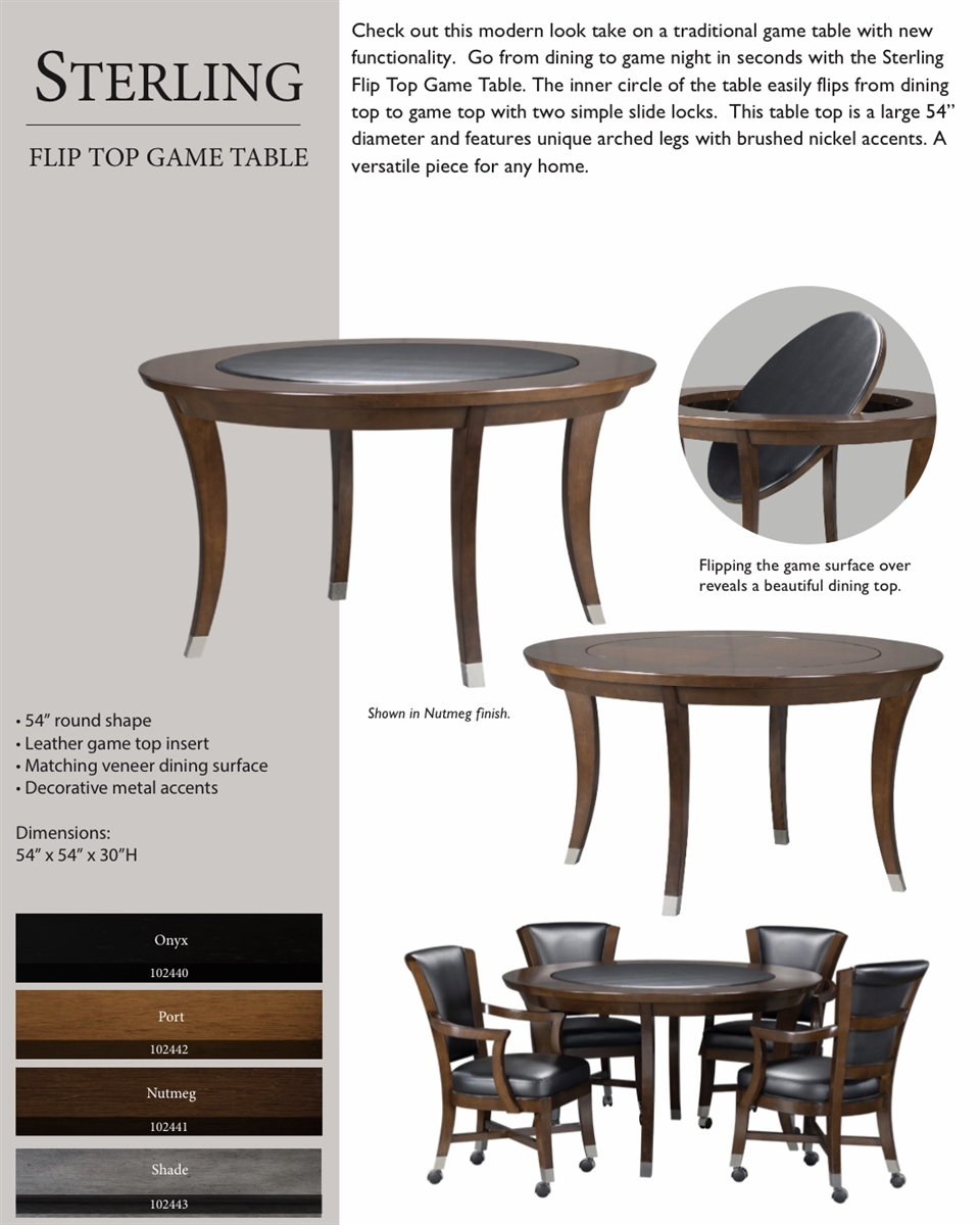 Sterling 2 In 1 Poker Game Table Set