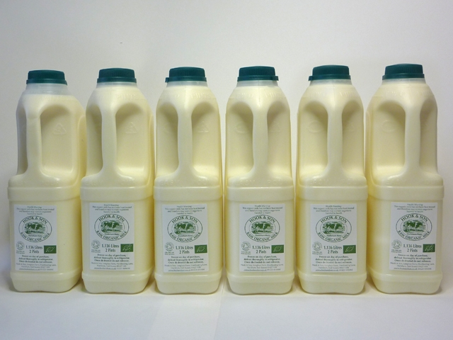 12 Pints Raw Organic Full Fat Milk