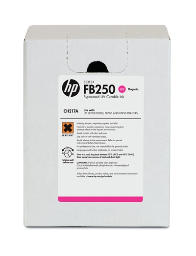 HP FB250 Scitex UV Curable 3 Liter Ink Cartridge CH217A Magenta