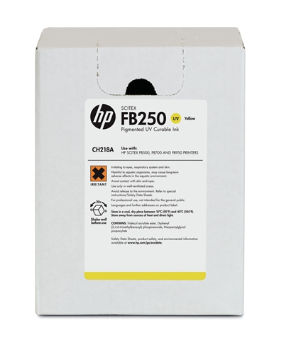 HP FB250 Scitex UV Curable 3 Liter Ink Cartridge CH218A Yellow