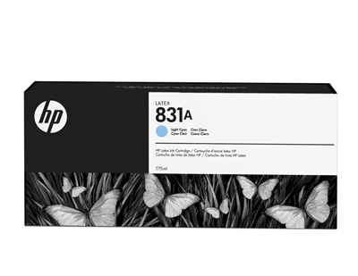HP 831 Latex Ink Cartridge CZ686A Lt Cyan