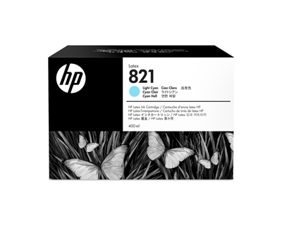 HP 821 Latex Ink Cartridge G0Y90A Lt Cyan