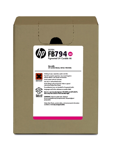 HP FB794 Scitex UV Curable 3 liter Ink Cartridge G0Y94A Magenta