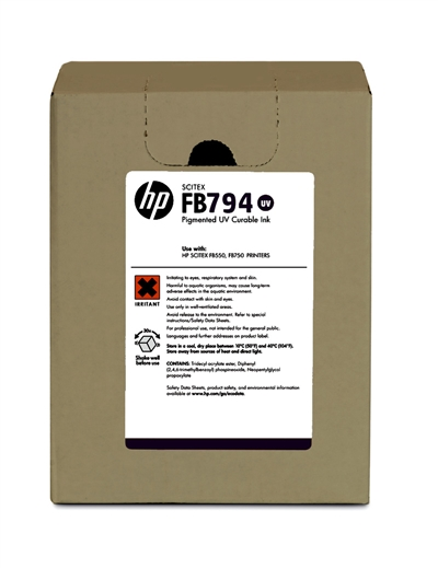 HP FB794 Scitex UV Curable 3 liter Ink Cartridge G0Y96A Black