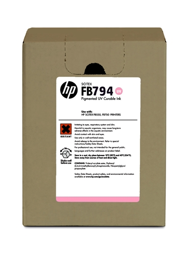 HP FB794 Scitex UV Curable 3 liter Ink Cartridge G0Y98A Lt Magenta
