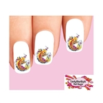 Japanese Tattoo Koi with Cherry Blossoms Set of 20 Waterslide Nail Decals