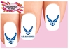USAF United States US Air Force Assorted Set of 20 Waterslide Nail Decals