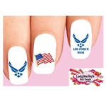 USAF United States Air Force Mom Assorted Waterslide Nail Decals