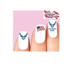 USAF United States Air Force Wife Assorted Set of 20 Waterslide Nail Decals