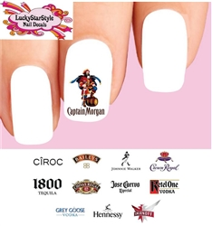 Alcohol Spirits Liquor Assorted #2 Set of 48 Waterslide Nail Decals