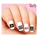 United States US Army Mom Assorted Waterslide Nail Decals