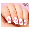 Baby Girl Pink Footprints, Stroller, Pacifier & Teddy Bear Assorted Waterslide Nail Decals