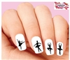 Ballerina Silhouette Assorted Waterslide Nail Decals