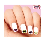 Batman Assorted Set of 20 Waterslide Nail Decals