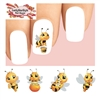 Cute Honey Bees Assorted Set of 20 Waterslide Nail Decals