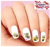 Queen Bee with Crown Assorted Set of 20 Waterslide Nail Decals