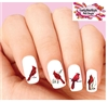 Red Cardinal Assorted Set of 20 Waterslide Nail Decals