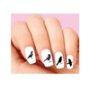 Black Crow Raven Assorted Waterslide Nail Decals