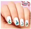 Peacock Assorted Set of 20 Waterslide Nail Decals