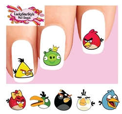 Angry Birds Assorted Set of 20 Waterslide Nail Decals Waterslide Nail Decals