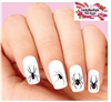 Black Widow Spider Assorted Set of 20 Waterslide Nail Decals