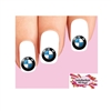 BMW Assorted Set of 20 Waterslide Nail Decals