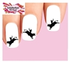 Cowboy Bull Riding Rider Silhouette Set of 20 Waterslide Nail Decals
