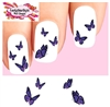 Purple Monarch Butterflies Butterfly Assorted Set of 20 Waterslide Nail Decals