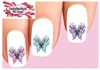 Butterfly with Flowers & Scrolls Assorted Set of 20 Waterslide Nail Decals