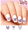 Purple Butterfly Butterflies Assorted Waterslide Nail Decals
