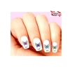 Colorful Butterfly with Scrolls Assorted Set of 20 Waterslide Nail Decals