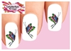 Butterfly Tattoo Style Set of 20 Waterslide Nail Decals
