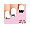Jeep Off Road Assorted Set of 20 Waterslide Nail Decals
