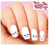 Kitty Cat Face Eyes Assorted Set of 20 Waterslide Nail Decals
