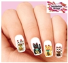 Lucky Cat Good Fortune Assorted Set of 20 Waterslide Nail Decals