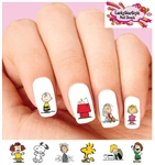 Charlie Brown Snoopy Woodstock Linus Lucy Assorted Waterslide Nail Decals