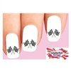 Checkered Car Racing Flags Waterslide Nail Decals