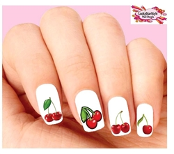 Red Cherries Assorted Waterslide Nail Decals