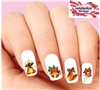 Christmas Holiday Bells with Holly Assorted Set of 20 Waterslide Nail Decals