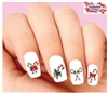 Christmas Holiday Candy Cane Assorted Set of 20 Waterslide Nail Decals