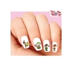 Christmas Holiday Elf Candy Cane Assorted Waterslide Nail Decals