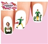 Elf The Movie Christmas Assorted Waterslide Nail Decals Waterslide Nail Decals