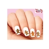Holiday Christmas Gingerbread Man Assorted Waterslide Nail Decals