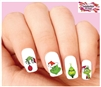Grinch Christmas Assorted Set of 20 Waterslide Nail Decals