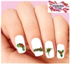 Christmas Holiday Holly with Berries Assorted Set of 20 Waterslide Nail Decals