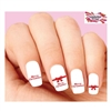 Merry Christmas Red Bow Assorted Waterslide Nail Decals