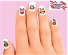 Christmas Holiday Santa Owls Assorted Set of 20 Waterslide Nail Decals