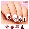Merry Christmas Red Buffalo Plaid Set of 20 Waterslide Nail Decals